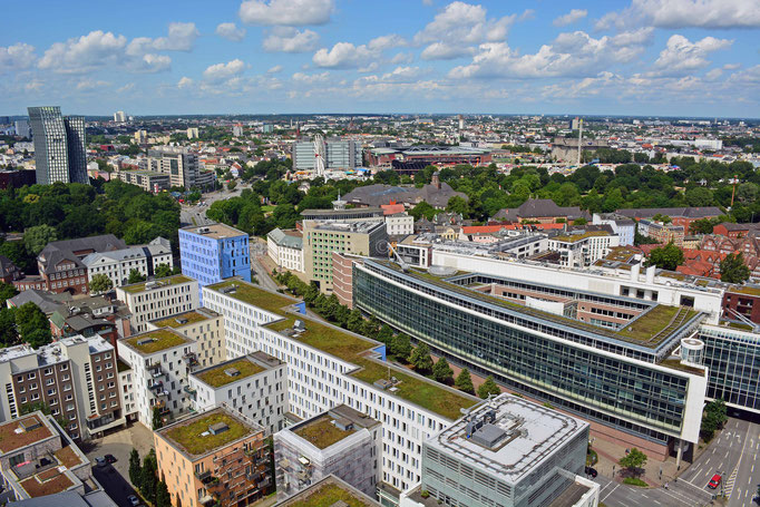 Blick vom Michel auf die Hamburger City
