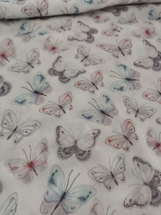 Schmetterlinge weiss - Musselin