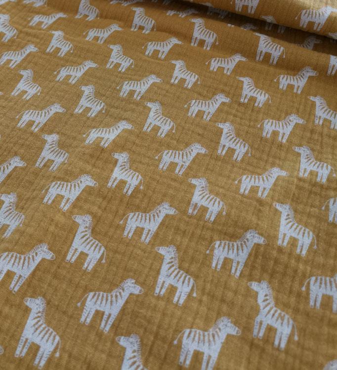 Zebra senf - Musselin