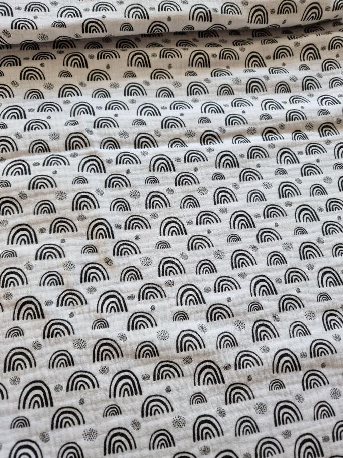 Regenbögen auf Weiss - Musselin