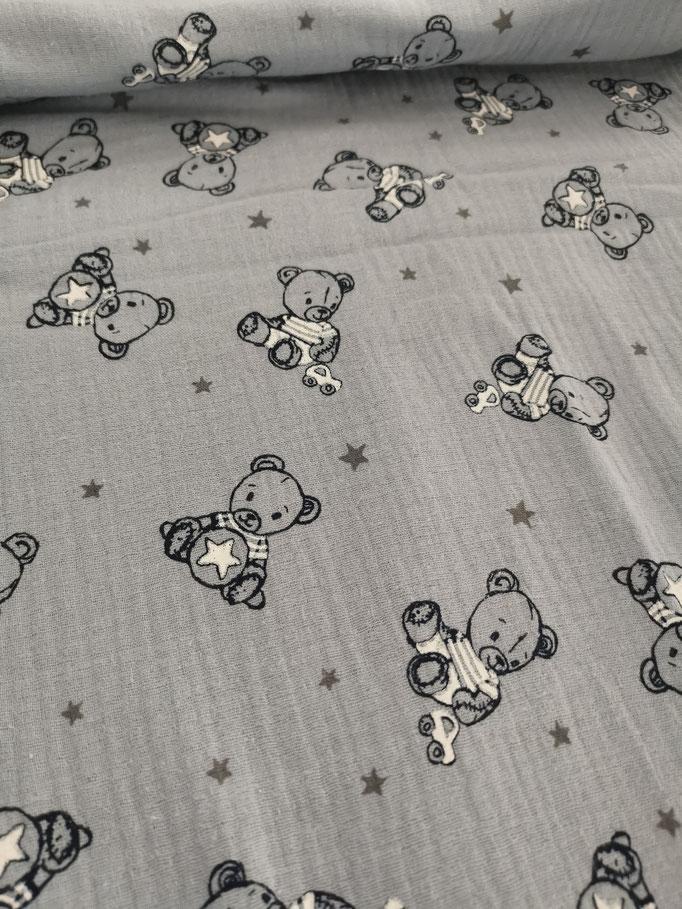 Teddybär hellblau - Jersey