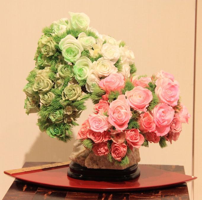 盆栽のプリザーブドフラワー