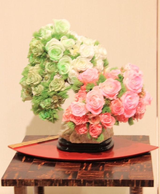 盆栽のプリザーブドフラワー 鈴木美智子