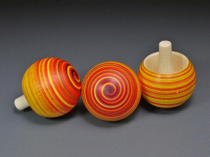 Umkehrkreisel Spiralo gelb-rot