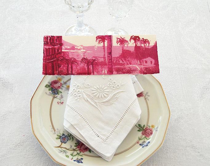 kitchenlitho originale d'un marque-pages pour un mariage