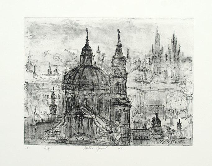 Estampe originale Prague