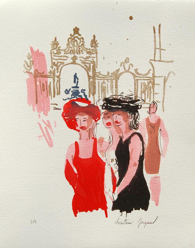 Lithographie originale de la place Stanislas en France