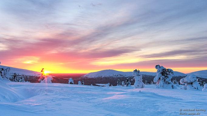 kalter Sonnenaufgang