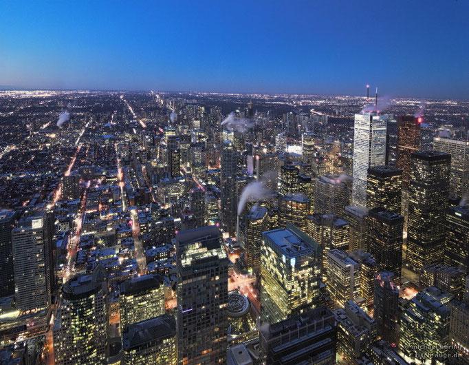 Blick vom CN-Tower, Toronto
