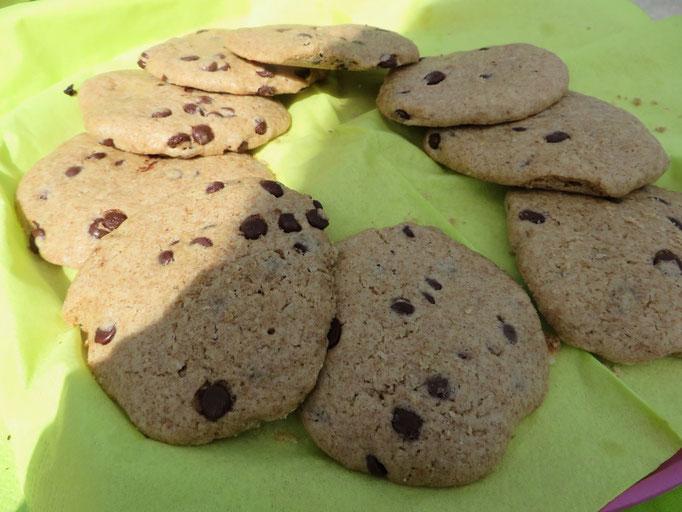Vollkorn-Schoko-Cookies