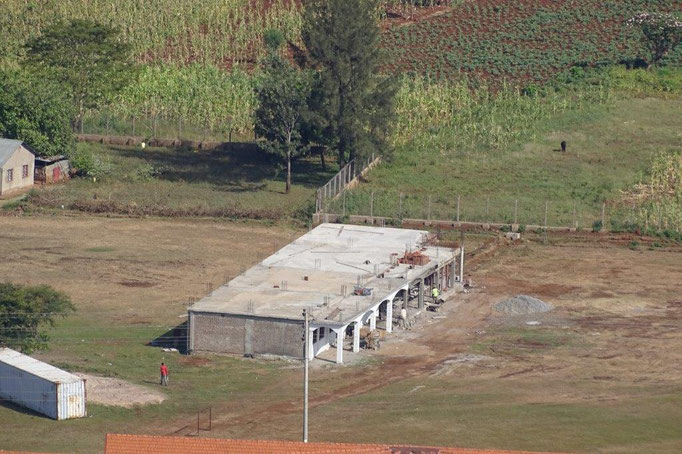 Die im Bau befindliche Secundary School