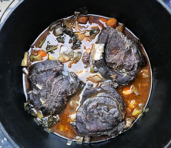 Ochsenbäckchen im Dutch-Oven