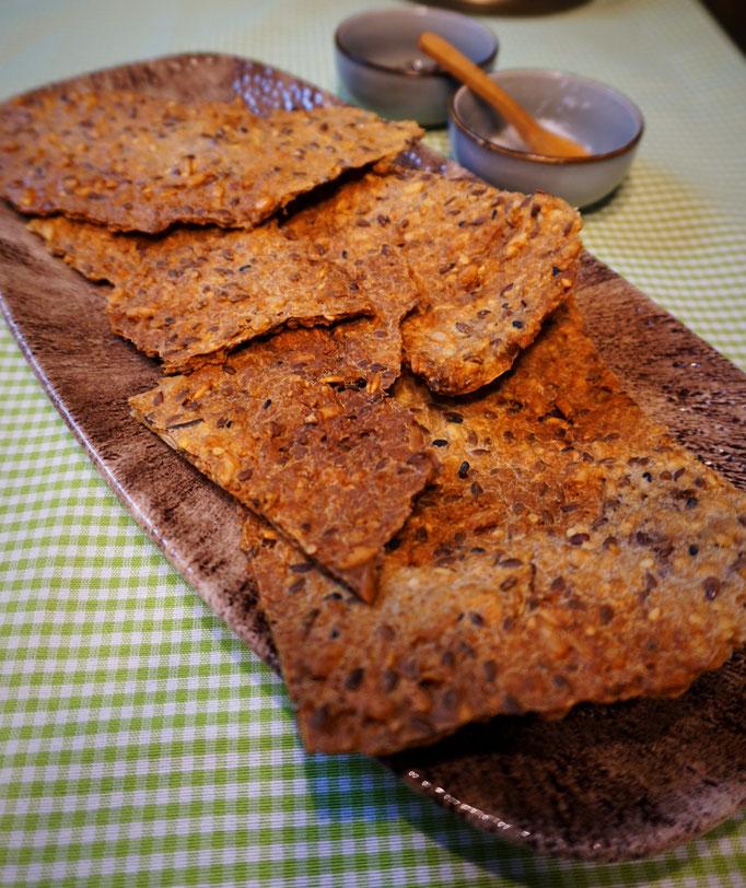 Knäckebrot frisch gebacken