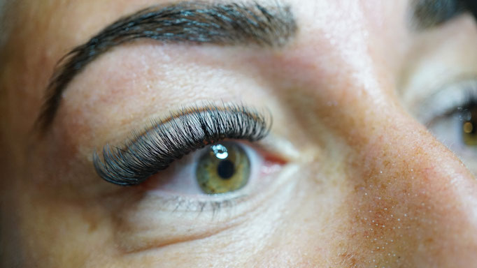 Eindresultaat wimperextensions