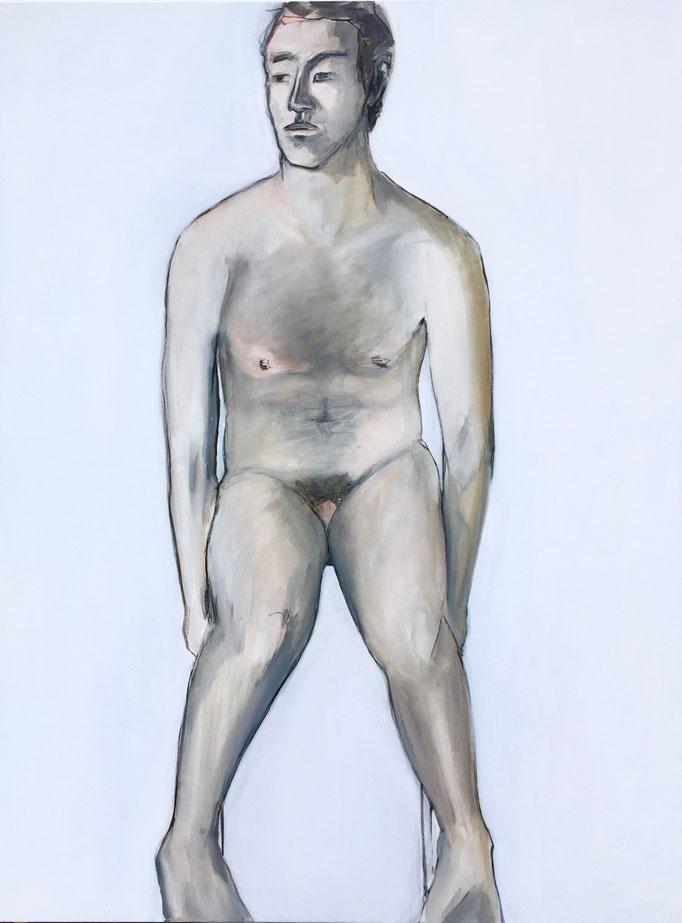 The Image Of Man IV, 2018  Kohle & Öl auf Leinwand,  160 x 120 cm