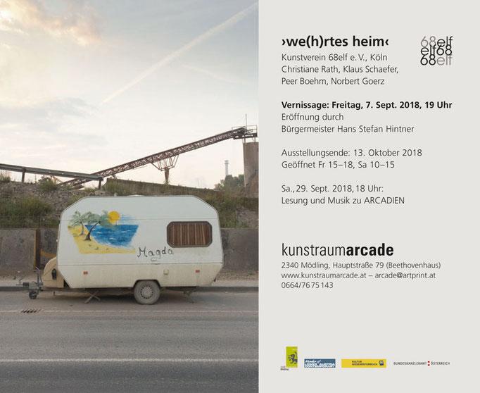 07.09. - 13.10.2018 / kunstraumarcade Wien