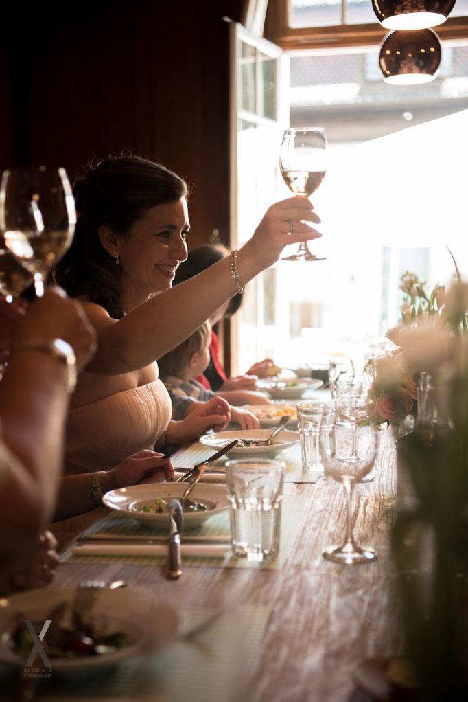 Hochzeit Festmahl zum Wohl
