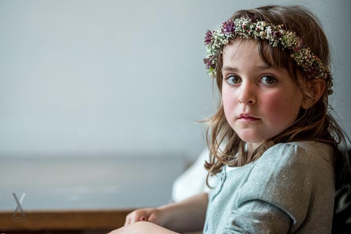 Hochzeit Blumenmädchen Portrait