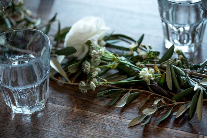 Hochzeit Festmahl Tischdekoration