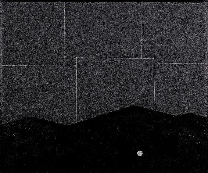 """""""温かい夕食"""" 162.0×194.0㎝(2014) oil on wood"""