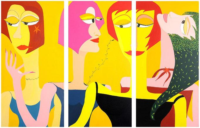 Triptyque. Acrylique sur toile. 100x120cm. Vendu - Sold