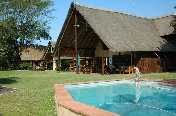 Bucklers, zwembad en huis