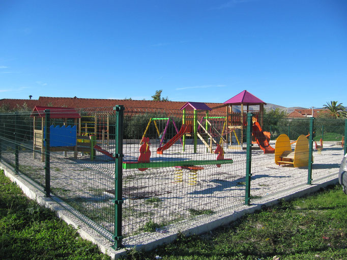 Апартаменты на Чиово (Трогир) с территорией, рядом с пляжем. Отдых с детьми в Хорватии.