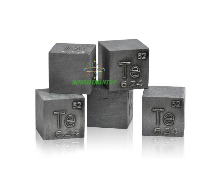 tellurio cubo, tellurio metallo, tellurio metallico, tellurio cubi, tellurio cubo densità, nova elements tellurio, tellurio elemento da collezione