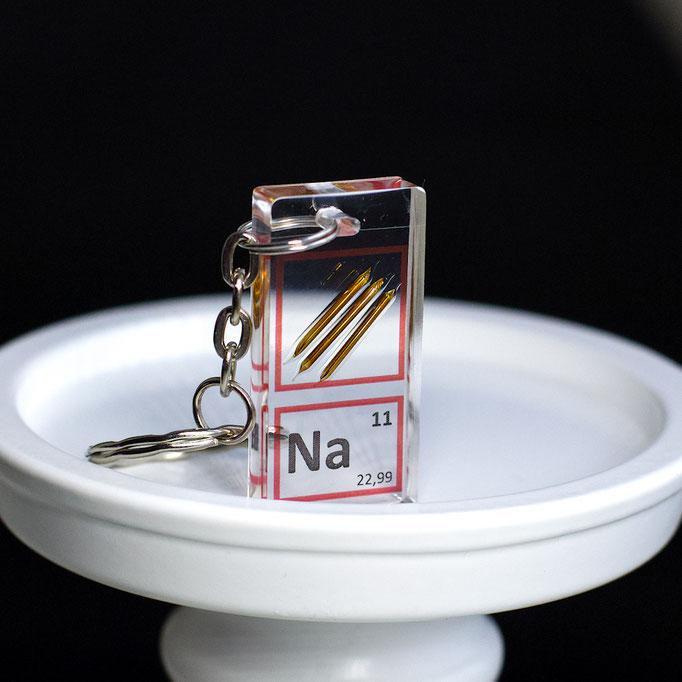 sodio metallico portachiavi, portachiavi di elementi, portachiavi con elementi, elementi della tavola periodica, elementi chimici, regali scientifici, gadget scientifici, portachiavi scientifici, portachiavi di metallo
