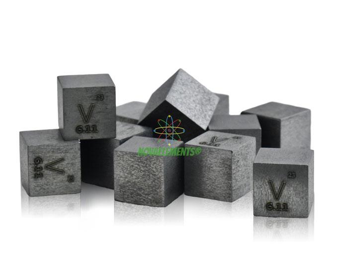 vanadio cubi, vanadio metallo, vanadio metallico, vanadio cubo, vanadio cubo densità, nova elements vanadio