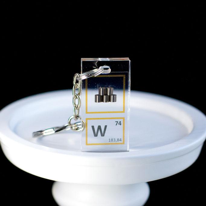 tungsteno metallico portachiavi, portachiavi di elementi, portachiavi con elementi, elementi della tavola periodica, elementi chimici, regali scientifici, gadget scientifici, portachiavi scientifici, portachiavi di metallo