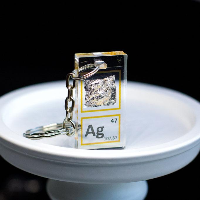 argento portachiavi, portachiavi di elementi, portachiavi con elementi, elementi della tavola periodica, elementi chimici, regali scientifici, gadget scientifici, portachiavi scientifici, portachiavi di metallo