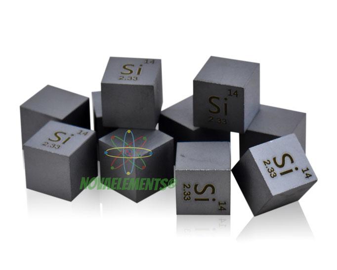 silicio cubo, silicio metallo, silicio metallico, silicio cubi, silicio cubo densità, nova elements silicio, silicio elemento da collezione