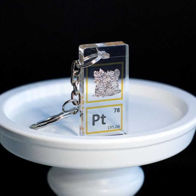 platino portachiavi, portachiavi di elementi, portachiavi con elementi, elementi della tavola periodica, elementi chimici, regali scientifici, gadget scientifici, portachiavi scientifici, portachiavi di metallo