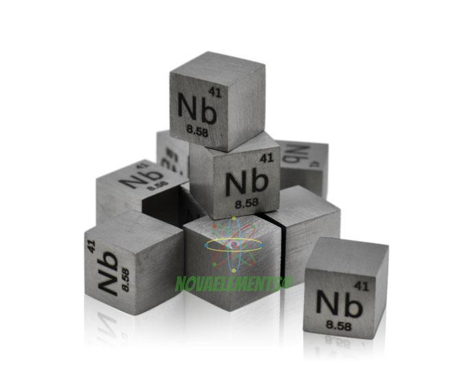 niobio cubo, niobio metallo, niobio metallico, niobio cubi, niobio cubo densità, nova elements niobio, niobio elemento da collezione