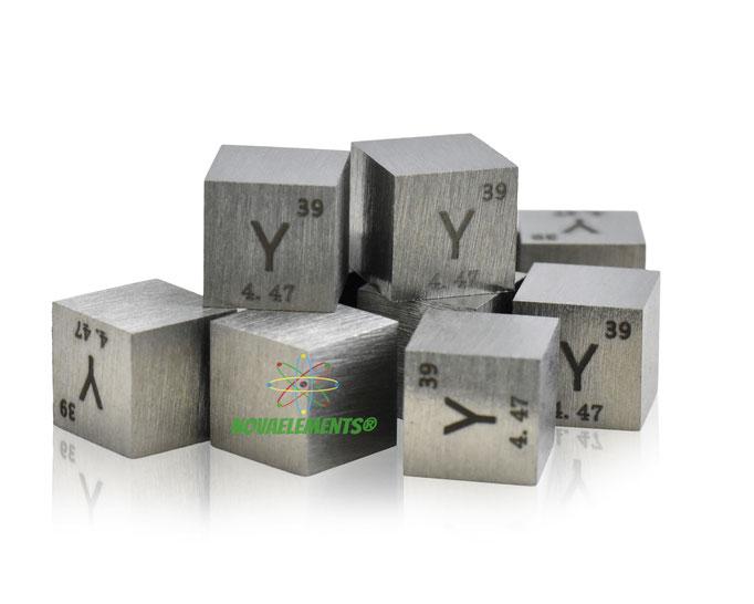 ittrio cubi, ittrio metallo, ittrio metallico, ittrio cubo, ittrio cubo densità, nova elements ittrio