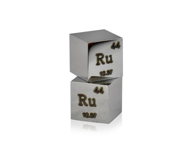 rutenio cubo, rutenio metallo, rutenio metallico, rutenio cubi, rutenio cubo densità, nova elements rutenio, rutenio elemento da collezione