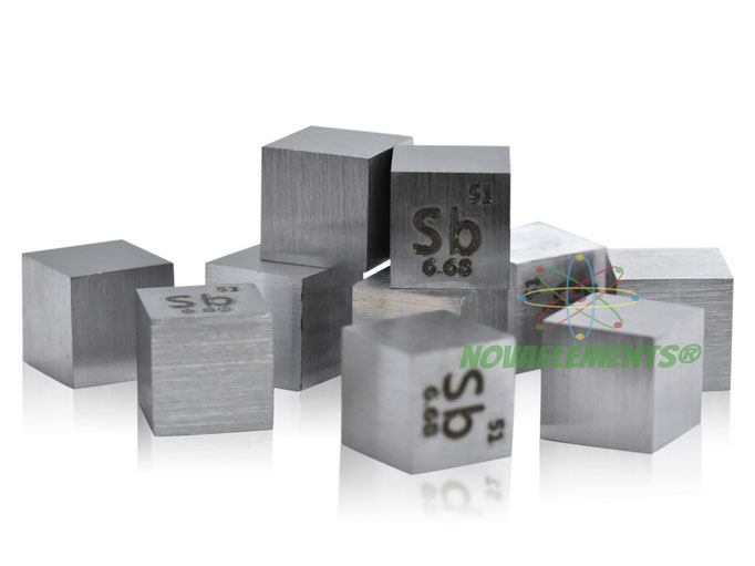 antimonio cubo, antimonio metallo, antimonio metallico, antimonio cubi, antimonio cubo densità, nova elements antimonio, antimonio elemento da collezione