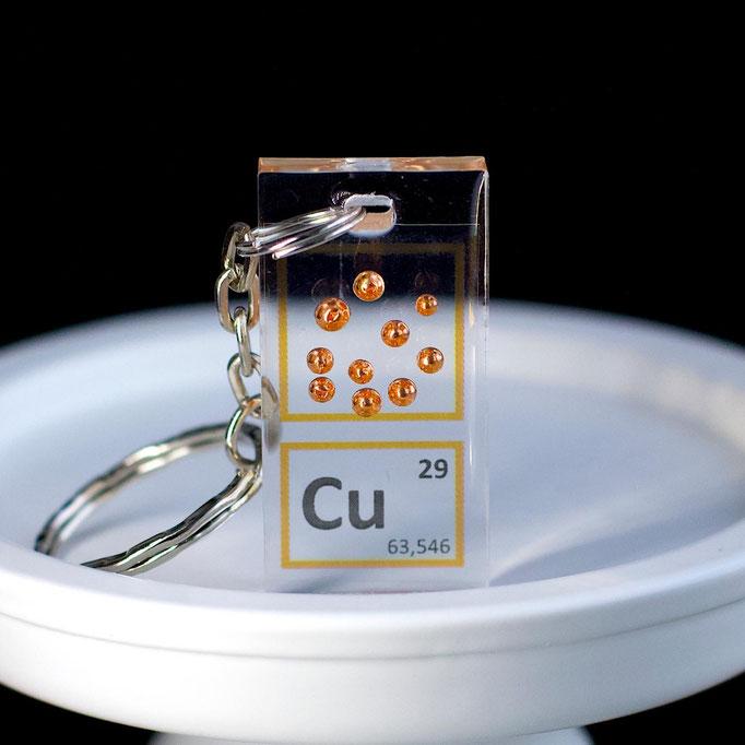rame metallico portachiavi, portachiavi di elementi, portachiavi con elementi, elementi della tavola periodica, elementi chimici, regali scientifici, gadget scientifici, portachiavi scientifici, portachiavi di metallo