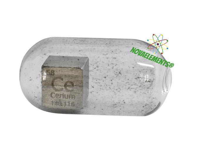 cerio cubi, cerio metallo, cerio metallico, cerio cubo, cerio cubo densità, nova elements cerio