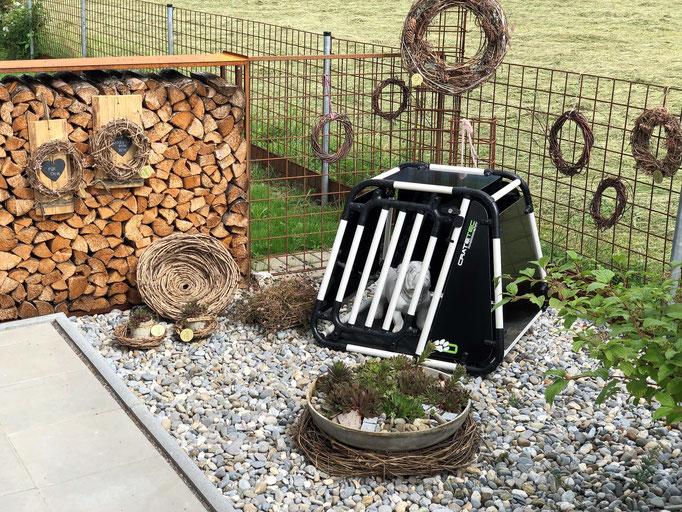 Ausstellungsbox bei Hundesalon Melanie in Koblach