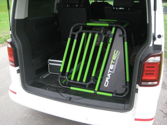 Hundebox L+ CrateTec Edition 6.7 VW California T6