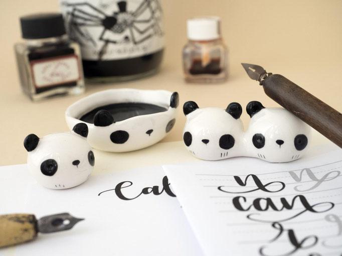 Kit de calligraphie en forme de panda, 27$