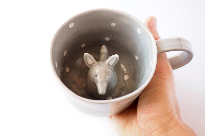 Tasse Loup en céramique, 100$