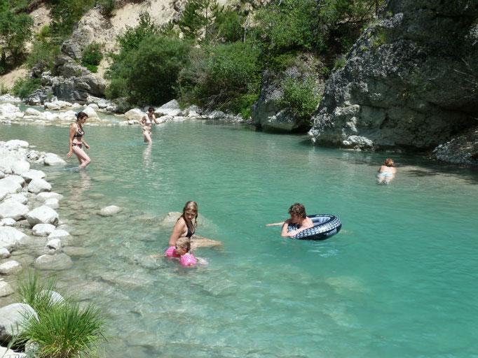 zwemmen in de Roanne vallei