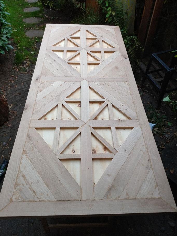 inleg  patroon mozaiek tafel