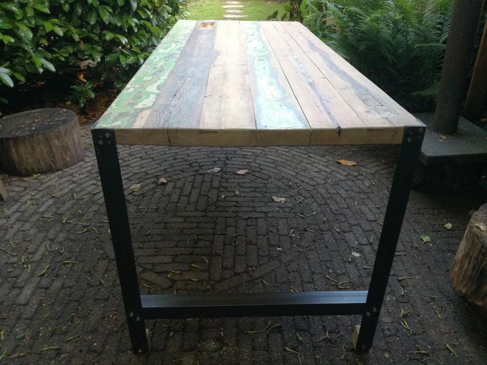 staal en hout kweekdesign