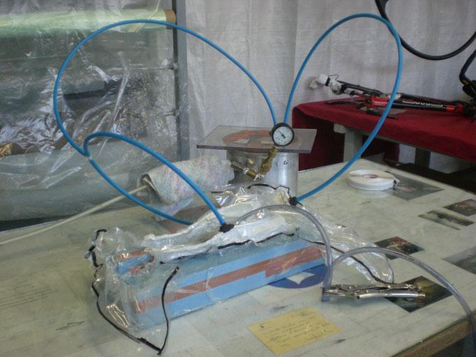 Ansetzen der Vakuuminfusion