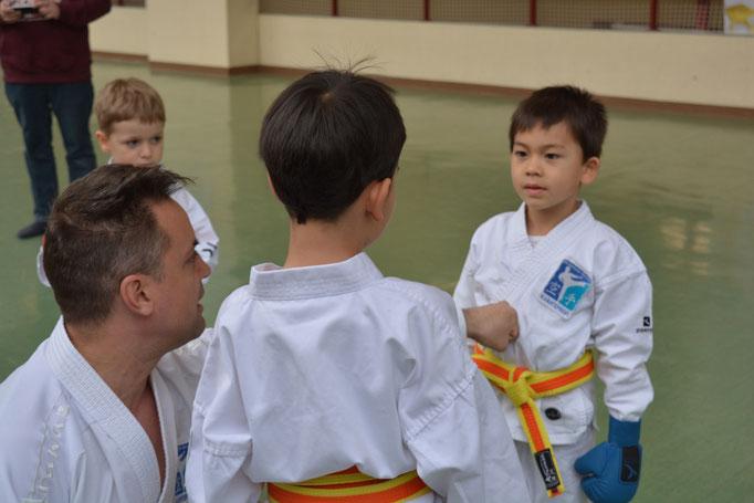 kindergerecht Partnertraining Kampfsport 3-6 Jahre