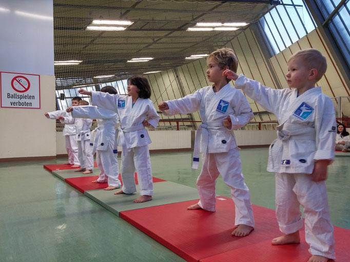 Disziplin für Kinder, hier 3 und 4 Jahre, Kampfkunst für Kindergartenalter